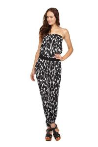 Cotton On Strapless Jumpsuit Stormy Jungle