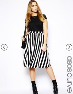 ASOS Curve Midi Skirt
