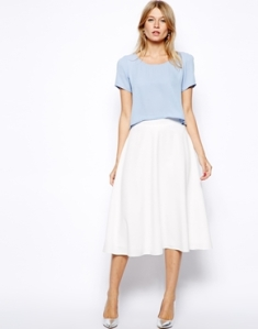 Asos love midi skater skirt