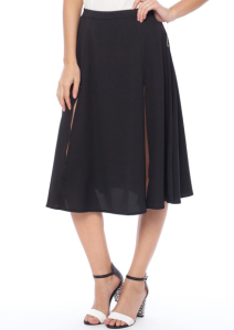 Ezra side slit midi skirt