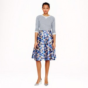 J Crew circle skirt in nightgarden floral
