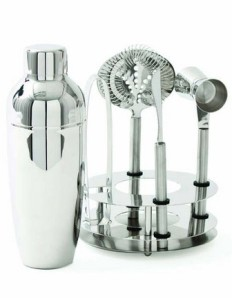 Manhattan 6 piece barware set