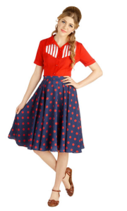 Modcloth Polkadot Midi Skirt