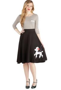 Modcloth Poodle Midi Skirt