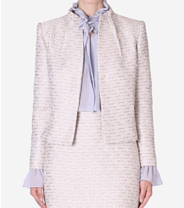 Carla Zampatti Porceline and Sky Tweed Jacket