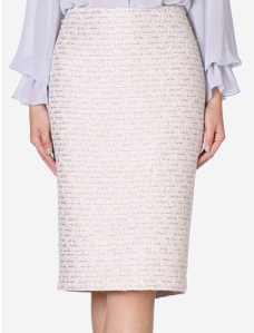 Carla Zampatti Porceline and Sky Tweed Skirt