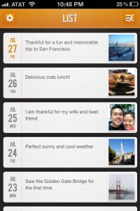 Gratitude 365 App 2