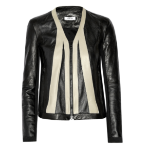 Helmut Lang Two Tone Leather Jacket