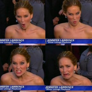 jennifer-lawrence-funny-faces-at-the-oscars-2013