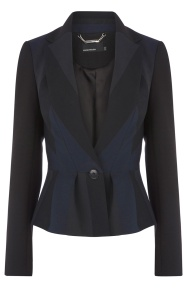 Karen Millen Graphic Stripe Suit Jacket