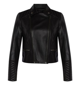 Marcs Leather Zip Jacket