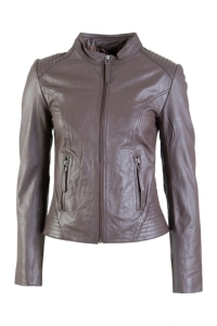 Pretty in Pink Front Zip Lamb Skin Leather Jacket