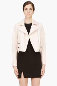 Rag and Bone Blush Pink Leather Vespa Jacket for Women