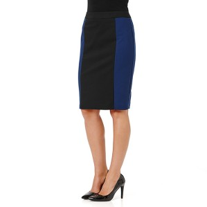 Target City Dressing Black Spliced Pencil Skirt