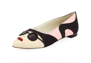 Alice + Olivia Stacey Face Pointed Flat