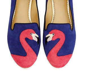 C.Wonder Flamingo Suede Smoking Slipper