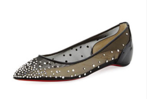 Christian Louboutin Body Strass Pointed Toe Ballerina Flats