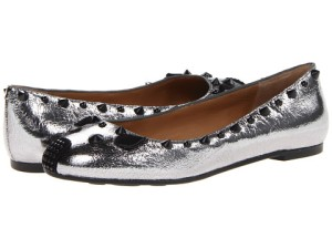Marc by Marc Jacobs Mouse Ballerina Flats Gunmetal