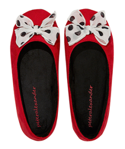 Peter Alexander Plush Bow Disney Couture Slippers