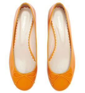 Sambag Tina Mandarin Plain Patent Ballet Flats